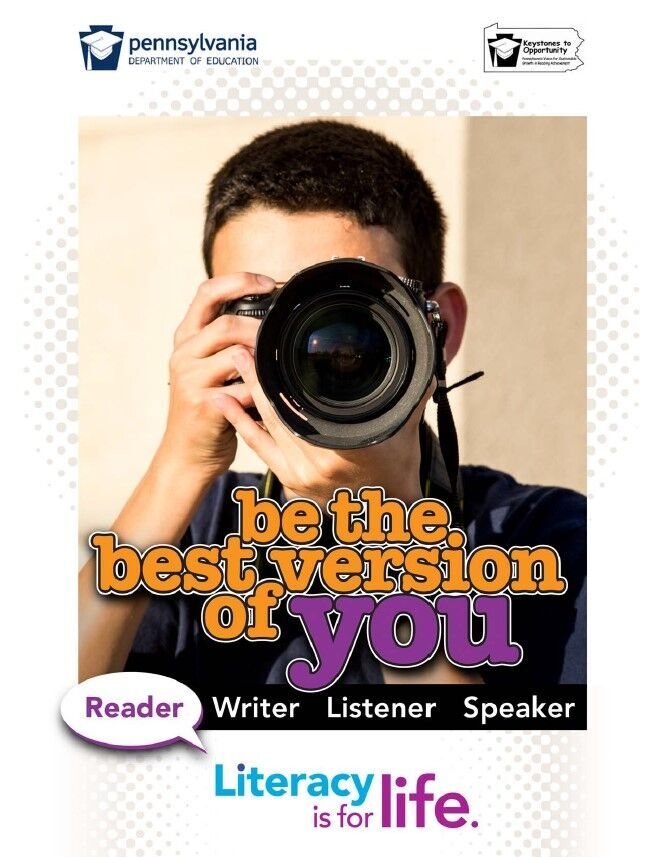 poster of boy using camera - be the best version of you