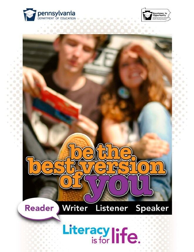 poster of boy and girl - be the best version of you
