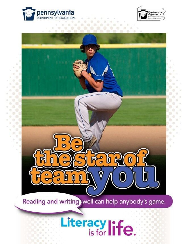 poster of boy playing baseball - be the star of team you