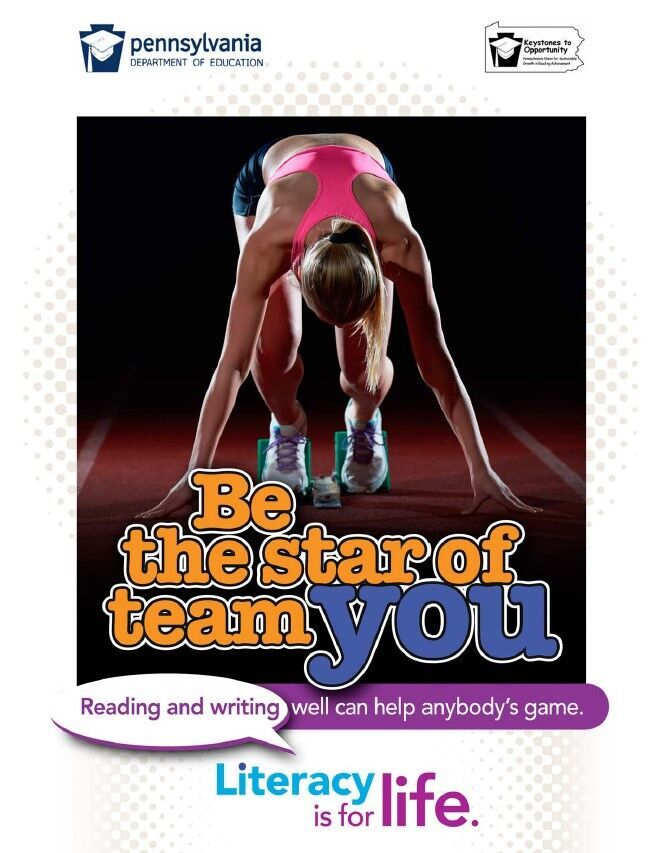 poster of girl running track - be the star of team you