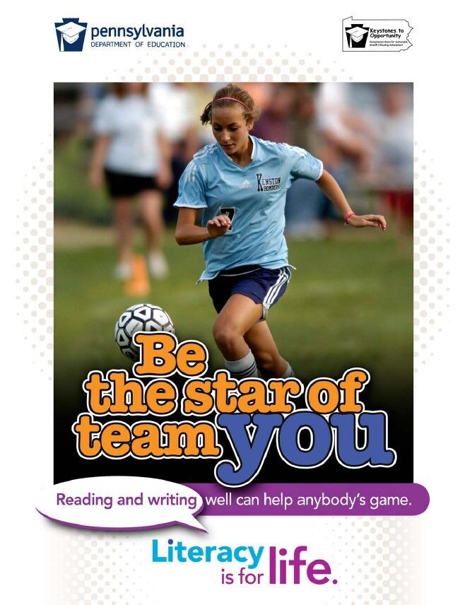 poster of girl playing soccer - be the star of team you