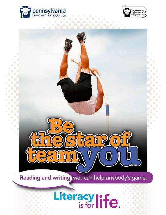 poser of boy pole vaulting - be the star of team you