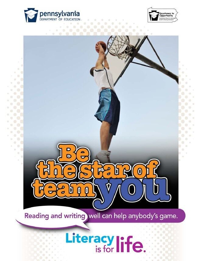 poster of boy playing basketball - be the star of team you
