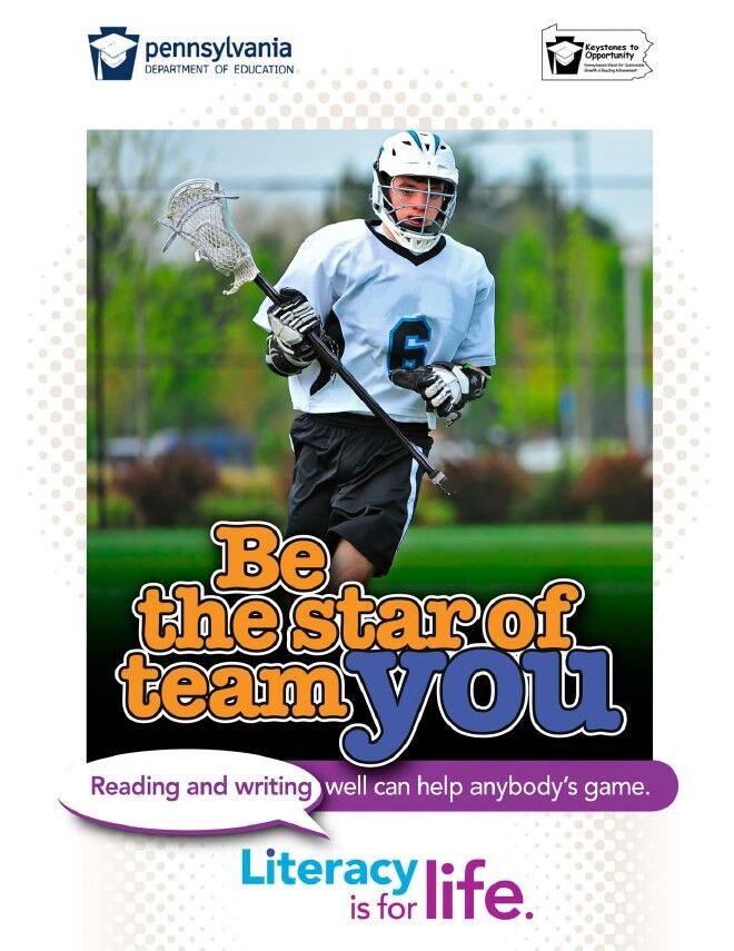 poster of boy playing lacrosse - be the star of team you