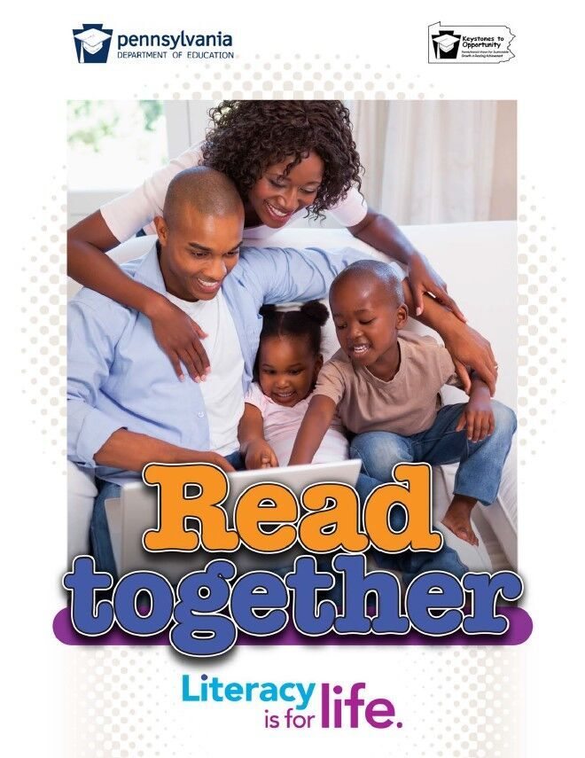 poster of family reading book together - read together