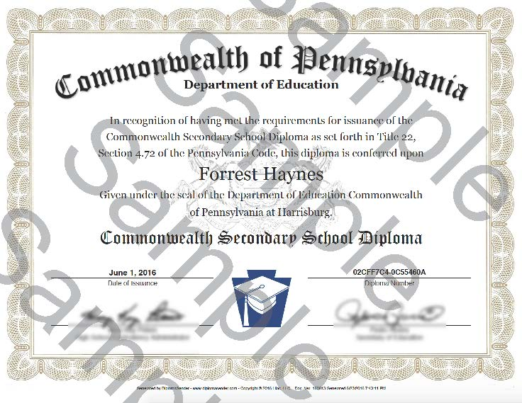 Commonwealth Secondary School Diploma