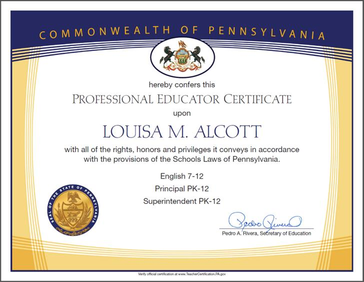 Frameable TeacherS Certificates