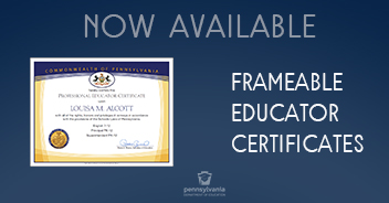 Frameable Educator Certificates